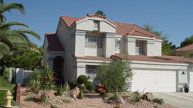 Desert landscaping in Henderson