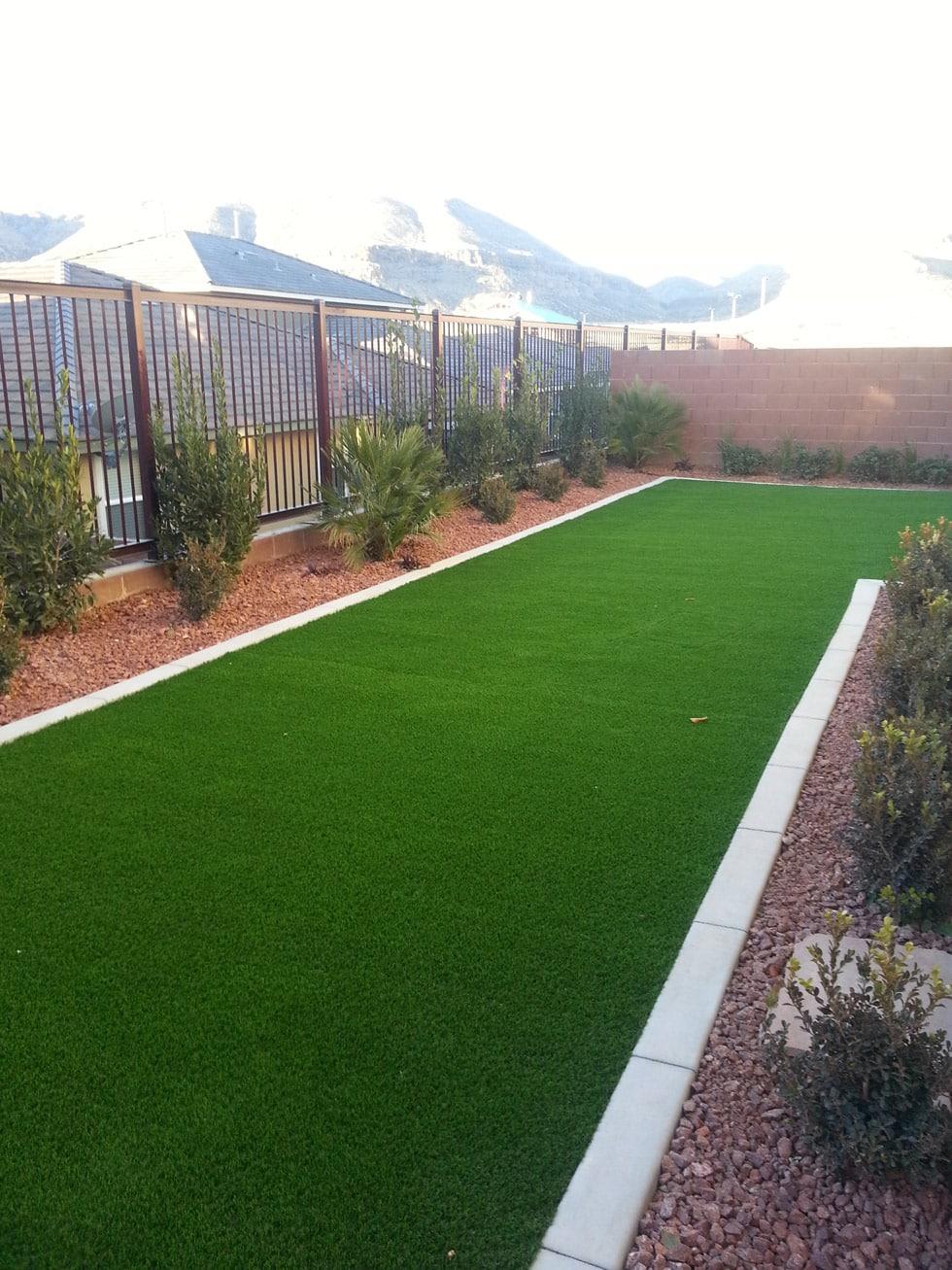 Astro Turf Garden >> Artificial Turf & Concrete Border - Cacti Landscapes