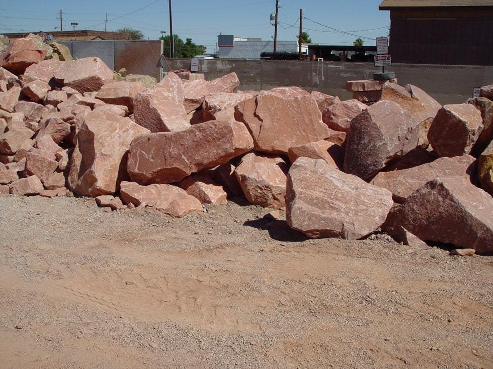 Red Granite Boulders