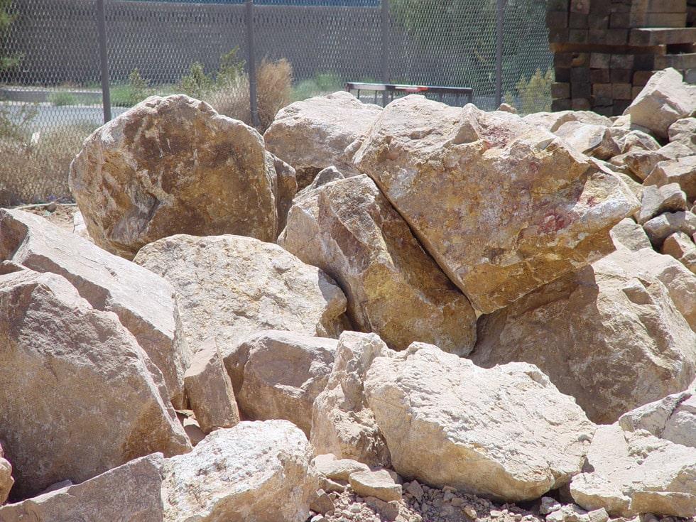 Gold Granite Boulders